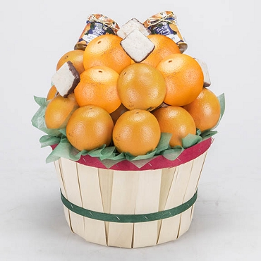 11O - Peck Basket Navel Oranges Deluxe