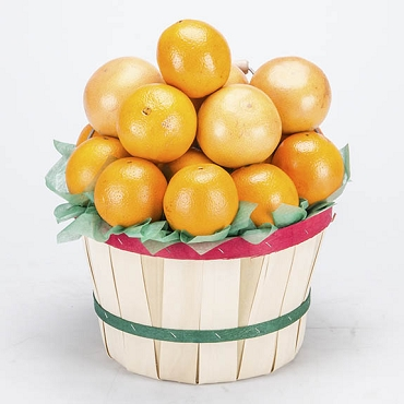 11M - Peck Basket - Navel Oranges and Ruby Red Grapefruit