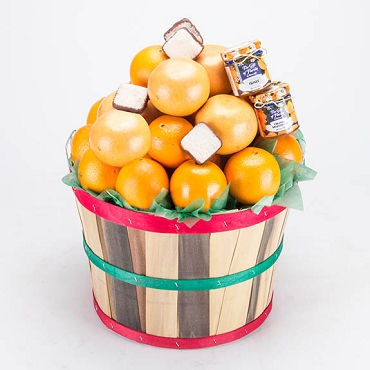 2 Peck Basket - Navel Oranges & Ruby Red Grapefruit Deluxe