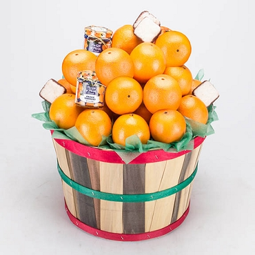 2 Peck Basket - Navel Oranges Deluxe