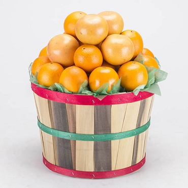2 Peck Basket - Navel Oranges & Ruby Red Grapefruit
