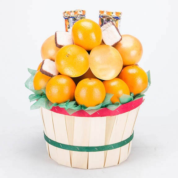 Peck Basket - Navel Oranges & Ruby Red Grapefruit Deluxe
